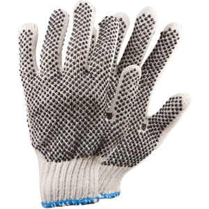Cotton and String Knit Gloves