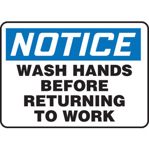 Housekeeping and Hygiene Signs