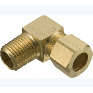 8mm OD x 8mm OD, Pack of 5 90 Degree Elbow Metalwork Metric Nickel Plated Brass Compression Elbow Tube Fitting