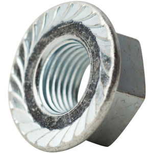 Finish: Zinc Thread Type: UNC Length: Quantity: 25 Material: Steel Inch Size: 3//4-10 3//4-10 HEX Flange Nuts Serrated COARSE CASE Hardened ZINC CR+3