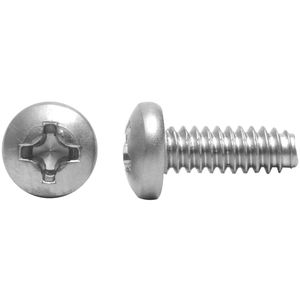 Full Thread Machine Screws #8-32 X 7//16 100 pcs AISI 304 Stainless Steel 18-8 Pan Phillips Drive Aspen Fasteners