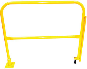 8l x 42h safety yellow powder coat steel floor mount pivoting compliance publicscrutiny Gallery