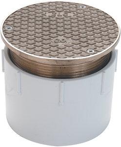 4 Quot Pipe Diameter Adjustable Nickel Pvc Floor Cleanout