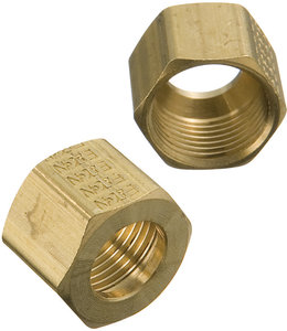 Image result for brass compression nut